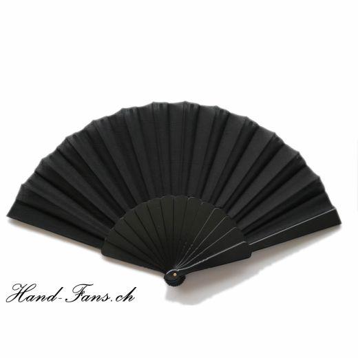 Handfächer Kunststoff Schwarz x 2