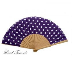 Hand Fan Luna Punto Purpel