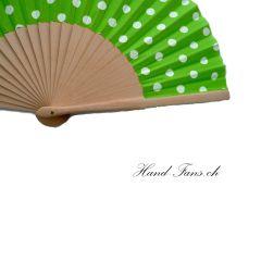 Handfächer Luna Punto Grün