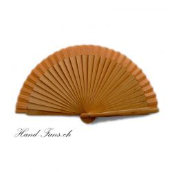 Hand Fan Poco Chico Brown (small 16 cm)