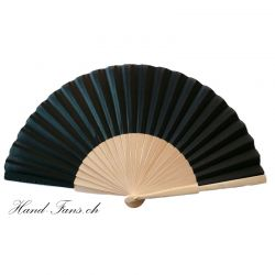 Hand Fan Sencillo al Natural Black