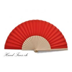 Hand Fan Sencillo al Natural Red
