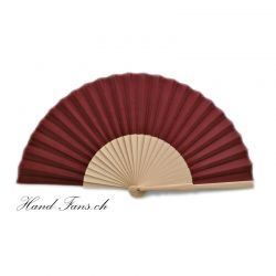 Hand Fan Sencillo al Natural Ruby