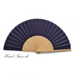 Hand Fan Sencillo al Natural Dark Blue