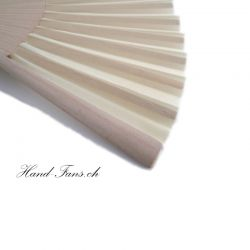 Hand Fan Sencillo al Natural Cream