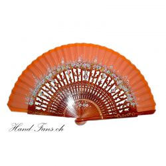Hand Fan El Aura Naranja