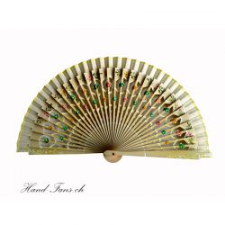 Hand Fan Floral Amarillo