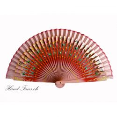 Handfächer Floral Roja