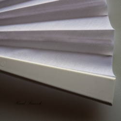 Handfächer Kunststoff Weiss x 2