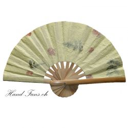Hand Fan Yellow Flowers Fanha