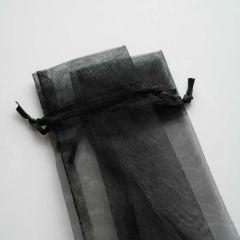 Handfächer Nylonsäckchen schwarz