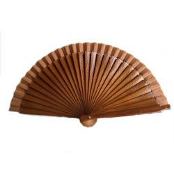 Hand Fan Poco Chico Darkbrown (small 16 cm)