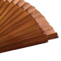 Handfächer Poco Chico Dunkelbraun (klein 16 cm)