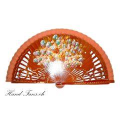 Handfächer La Danza Naranja
