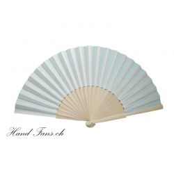 Hand Fan Sencillo al Natural White