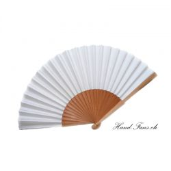 Hand Fan Sykomore Blanco