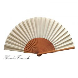 Hand Fan Sykomore Crema
