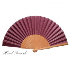 Hand Fan Sykomore Granate