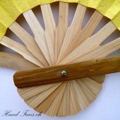 Handfächer Yellow Bamboo