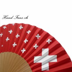 Hand Fan Helvetica - Hopp Schwiiz