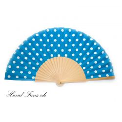 Hand Fan Luna Punto Blue