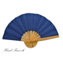 Hand Fan Blue Bamboo