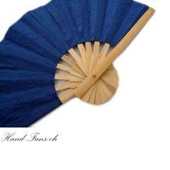 Handfächer Blue Bamboo