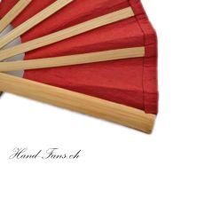 Handfächer Red Bamboo