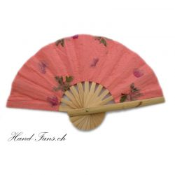 Hand Fan Coral Flowers Fanha