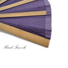 Handfächer Purple Bamboo