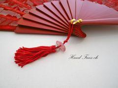 Handfächer Rojo Elegante